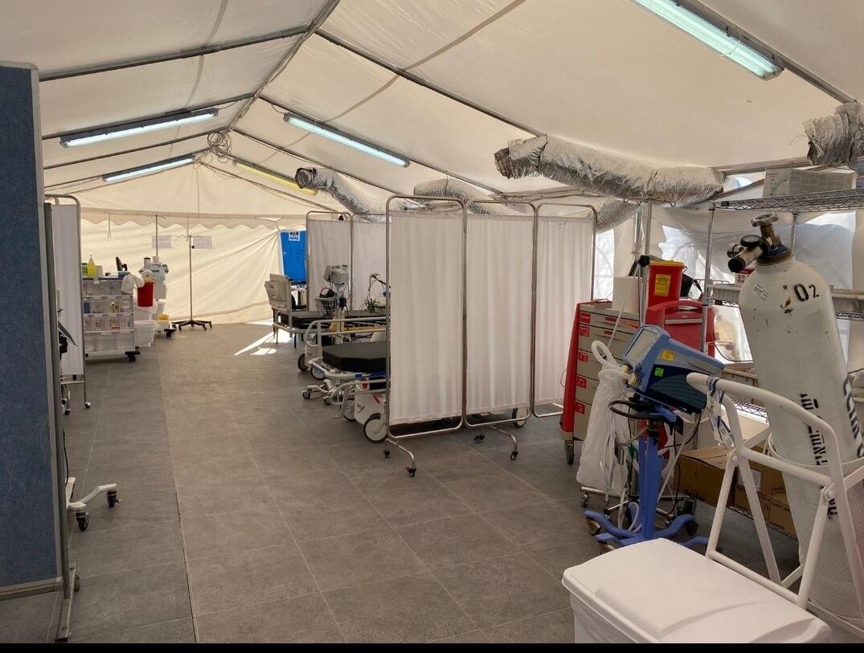 אוהל מחלקת הקורונה החדשה צילום: רחל דוד, סורוקה