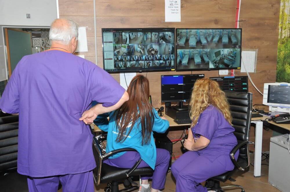 """חמ""""ל מחלקות הקורונה בבית החולים בנהריה צילום: אלי כהן"""