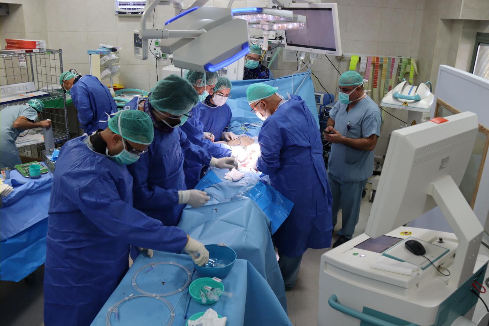 מהלך הניתוח צילום: זיו