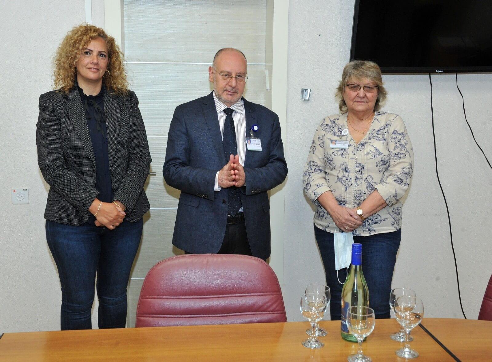 דליה טדגי (משמאל), פרופ' ברהום ורונית קלמן צילום: לגליל