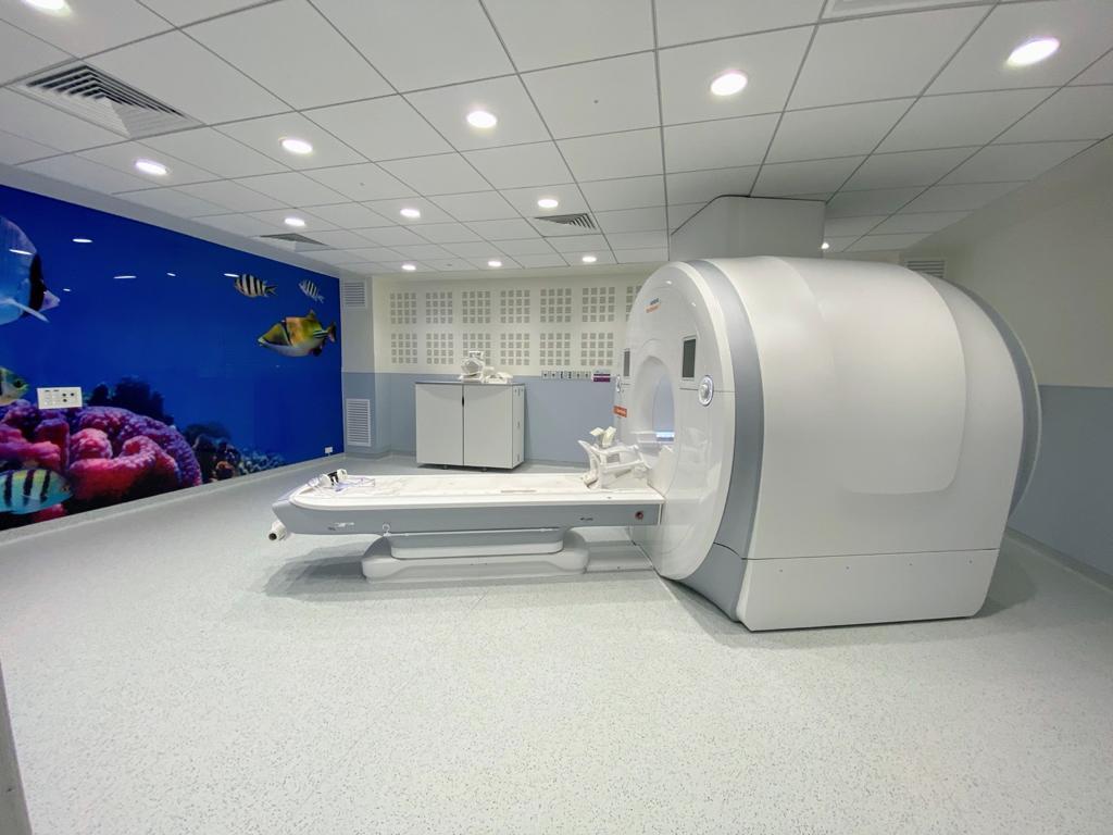 מכשיר ה-MRI החדש לילדי באר שבע והנגב צילום: סורוקה