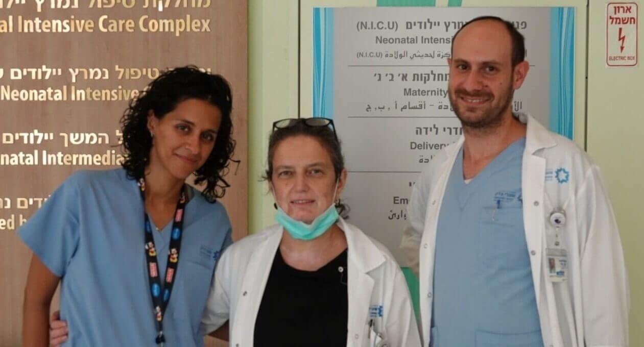 צוות החוקרים ד״ר משגב רוטנשטרייך, פרופ׳ סורינה גריסרו וד״ר רותם רעות. צילום: שערי צדק